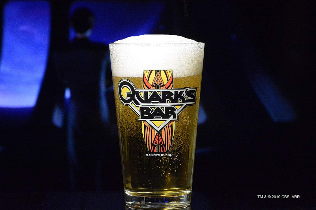 Star Trek: Deep Space Nine Quark's Bar Pint Beer Glass Special Edition In Universe™ Classic Color Line By Movies On Glass Includes One Glass - 16 Ounces