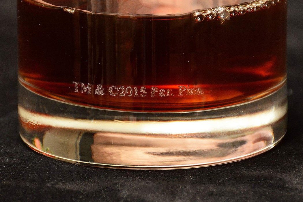 "The Godfather Movie Whiskey Glass with Quote,""I'm gonna make him an offer he can't refuse"" ~ Vito Corleone Officially Licensed Collectible Premium Etched By Movies On Glass Includes One Glass - 11 Oz"
