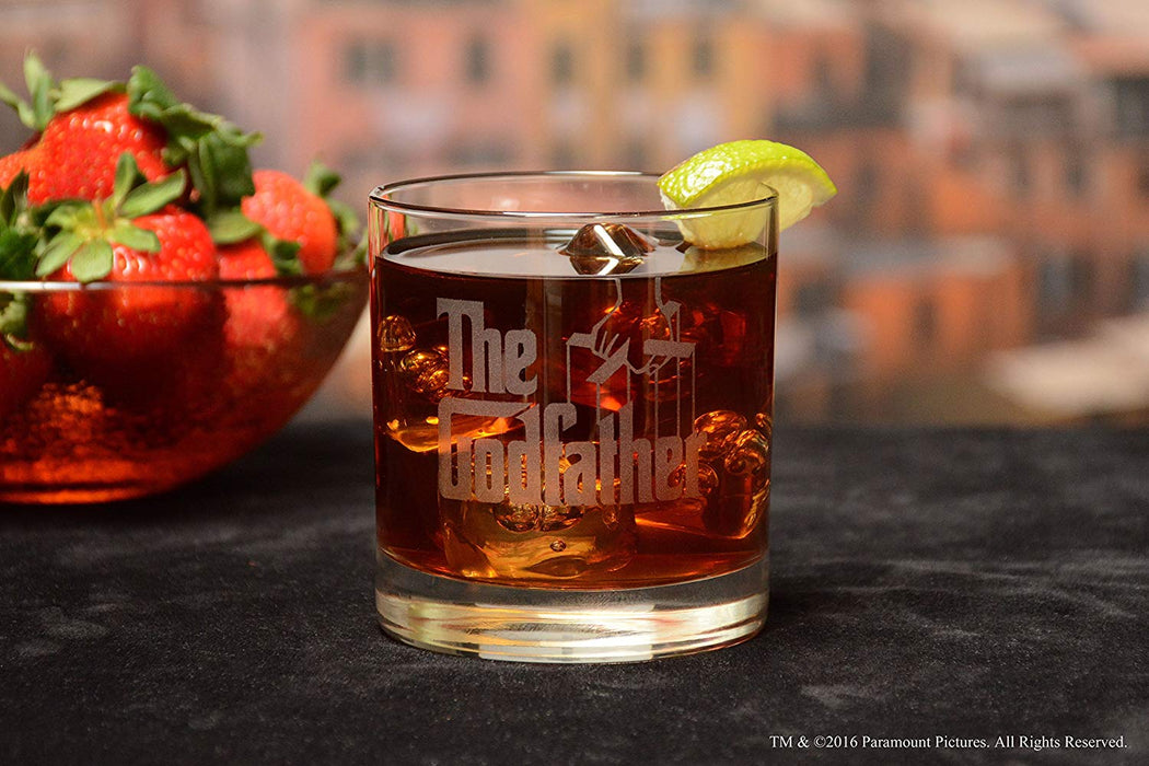 "The Godfather Movie Whiskey Glass With Quote,""I can handle things. I'm smart. Not like everybody says"" ~ Fredo Officially Licensed Collectible Premium Etched By Movies On Glass - One Glass 11 Ounces"
