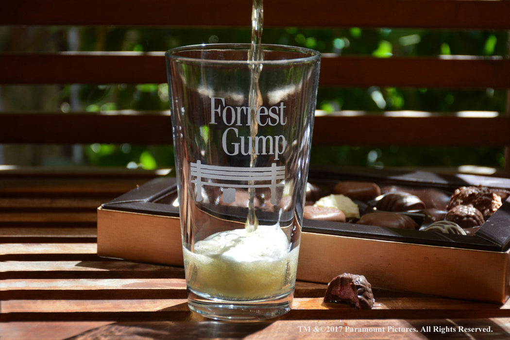Movies On Glass - Forrest Gump Movie Engraved Logo Pint Beer Glass