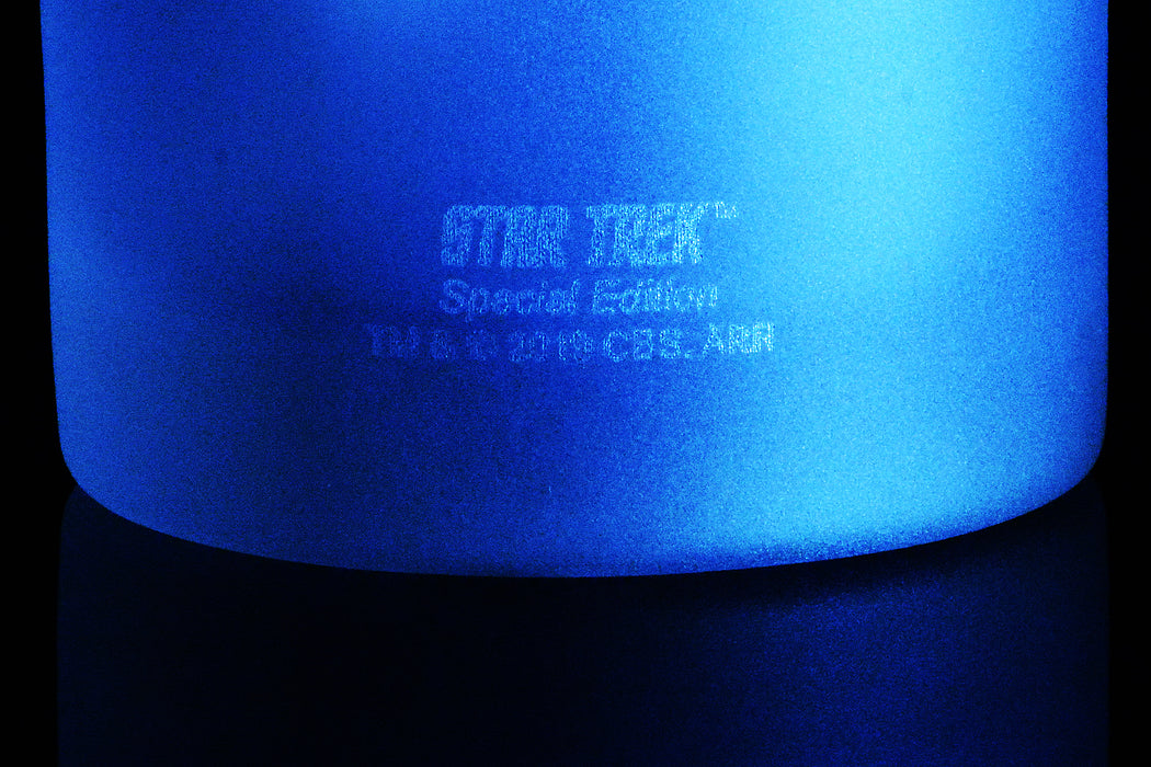 Star Trek: Discovery Highball Glass Special Edition In Universe™ White Frosted Line Premium Etched By Movies On Glass Includes One Glass - 11 Ounces