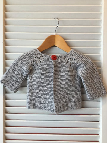 Norwegian Fir cardigan in Crisp from Sugar Bush Yarns