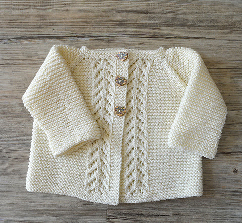 Lace Panel Cardigan from OGE Knitwear Designs