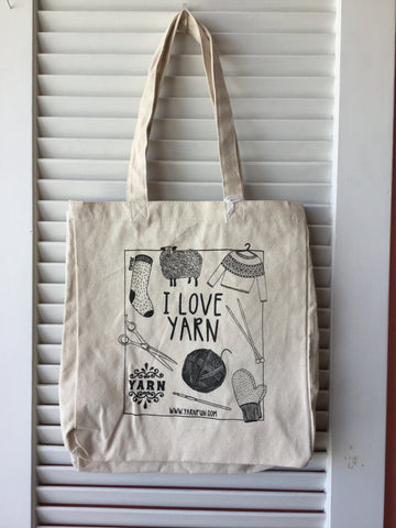 I Love Yarn Tote bag