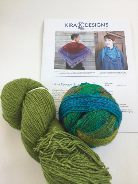 Belle Époque Shawl crochet kit by Kira K Designs