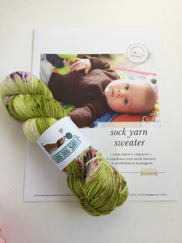 Sock Yarn Sweater kit