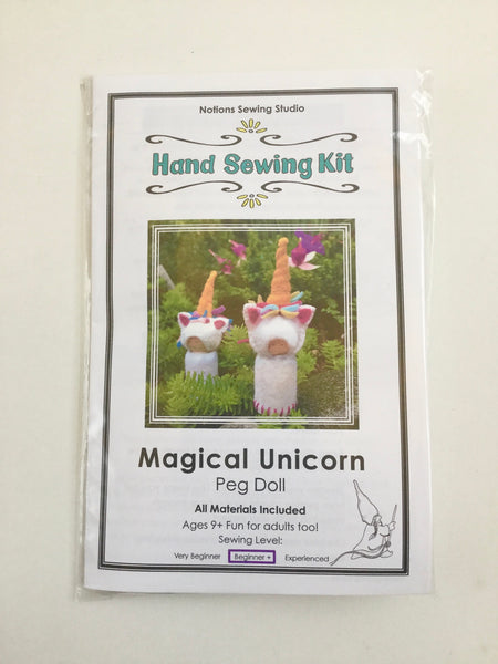 Magical Unicorn Peg Doll hand sewing kit