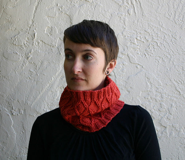 Bas Relief Cowl pattern from Kira K Designs
