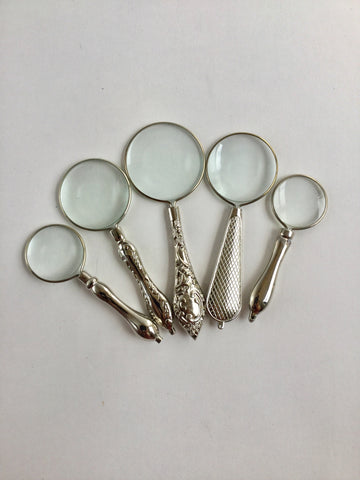 Magnifying Glass Vintage style Silver