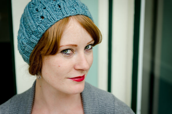 Bellwether Beret hat pattern PDF from Sweet Shop Patterns