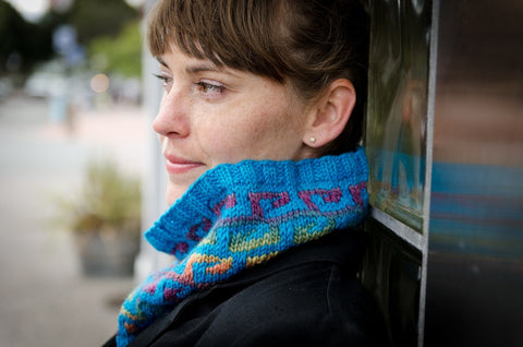 Fretwork Cowl pattern PDF from Sweet Shop Patterns