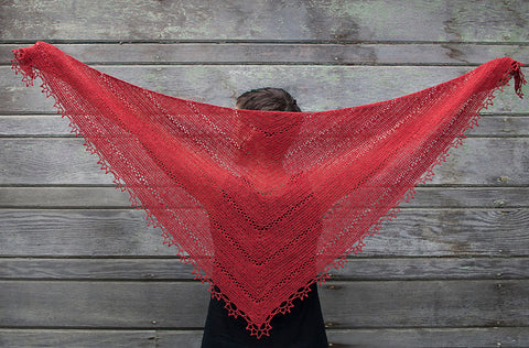 Fretwork Shawl crochet pattern from Kira K Designs