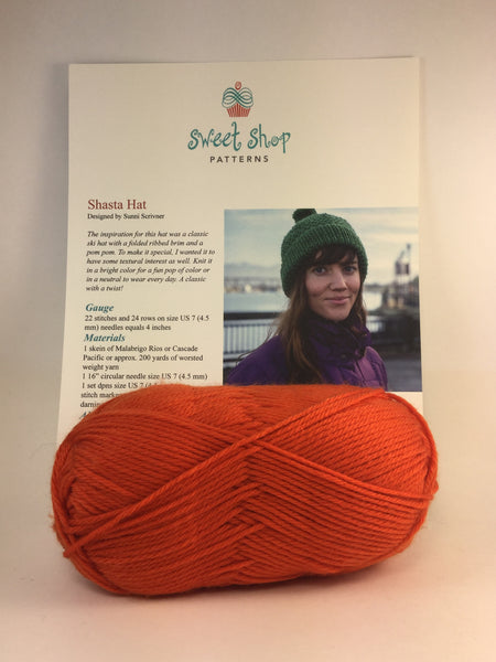 Shasta Hat kit from Sweet Shop Patterns