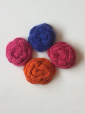 Crocheted and Felted Flowers Class