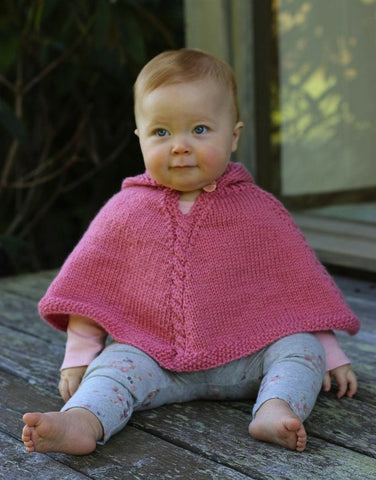 Cabled Poncho pattern PDF from Sweet Shop Patterns