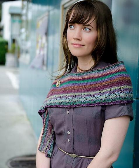 Sunset Walk Shawlette pattern PDF from Sweet Shop Patterns