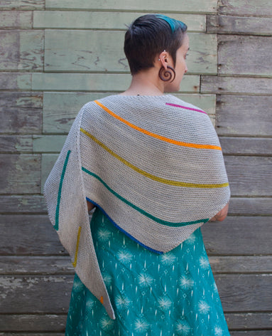 Verge Shawl pattern from Kira K Designs