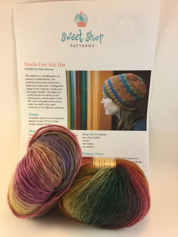 Sweet Shop Patterns Mochi Fair Isle hat kit