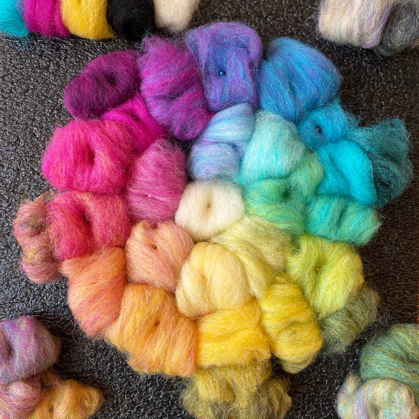 May 7th - Color 1 - Basic Color Mixing for Needle Felting - Live on Zoom!