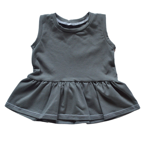 Feeling Gray Peplum Tank