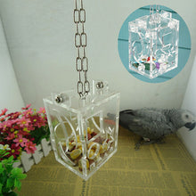 Transparent Cubic Bird Cage Feeder