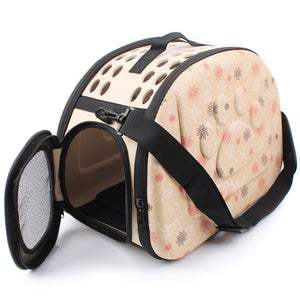 Foldable Travel Carrier Handbag for Dog or Cat