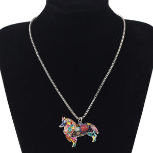 Beautiful Unique Collie Dog Choker Necklace Chain