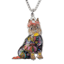 Schnauzer Dog Choker Necklace Chain Collar Pendant Fashion New Enamel Jewelry