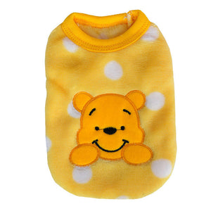Cartoon Small Dog Fleece Clothes