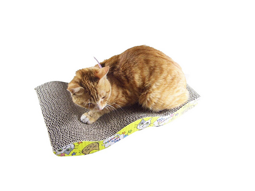 Mastone Scratcher with Catnip Cat Lounge Handmade Cats Kitten Scratcher Scratching Post Interactive Toy For Pet Cat Training