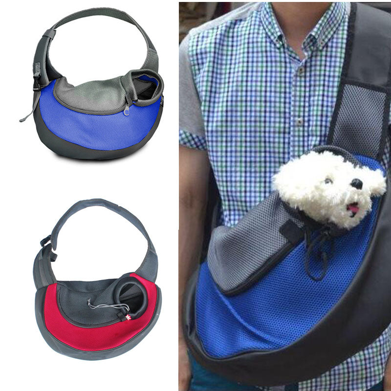 Small Pet Carrier Sling Front Dog Bag Mesh Comfort Travel Tote Shoulder Bag Backpack For Dog Carrying Pet Cat Dog Carrier Bag
