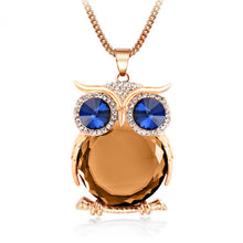 Trending Owl Necklace Top Quality Rhinestone Crystal Pendant