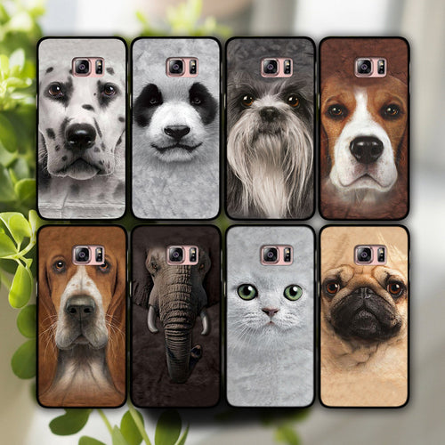 Animal heads phone hard shell case cover for Sansung Galaxy S5 S6 & 6 Edge