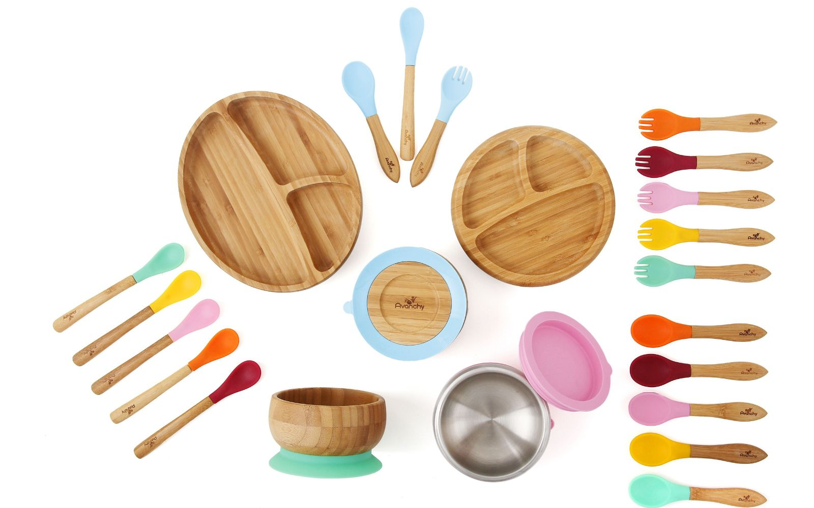 Sustainable Baby Dishes With Suction Cups Avanchy