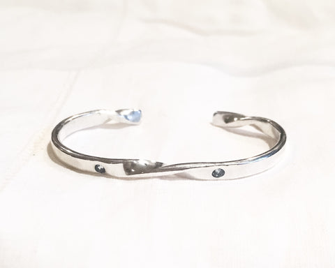 Baby's First Birthstone Bracelet // Sterling Silver