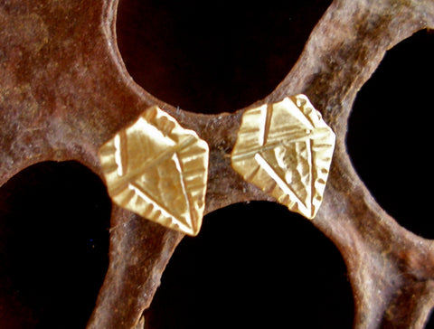 Brass Studs:  Rough Diamond