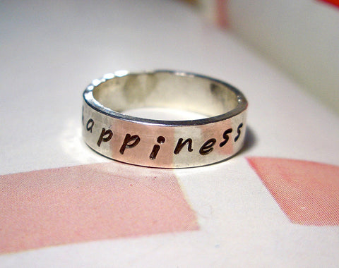 Design Your Own:  Personalized Sterling Silver Ring // Wide Band