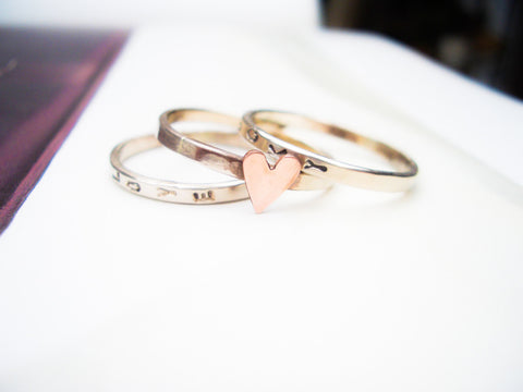 Personalized Wedding Ring Sets 74 Vintage Stacking Bands in K