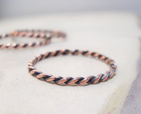 Simple Copper Twist RIng