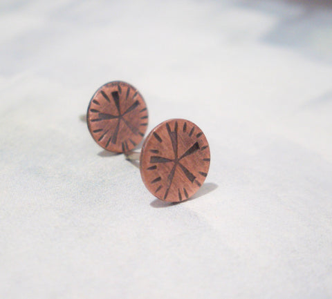 Copper Studs:  Little Sandollar