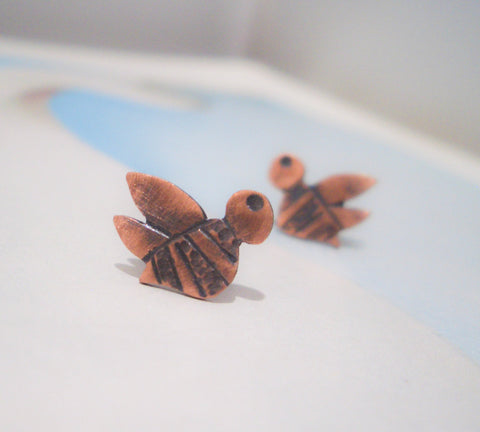 Copper Studs:  Buzzy Bee
