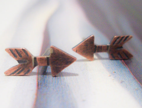 Copper Studs:  Straight Arrow