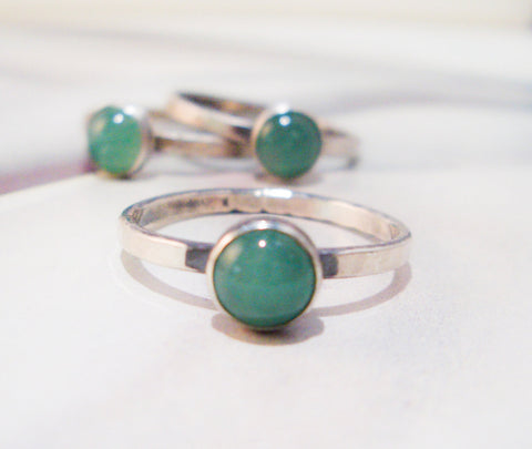 Aventurine Ring // Sterling Silver