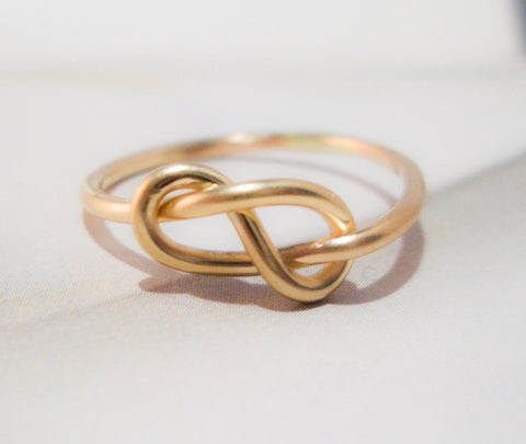 Love Bound Ring // Solid 14K Gold // Eternity Love Knot Ring
