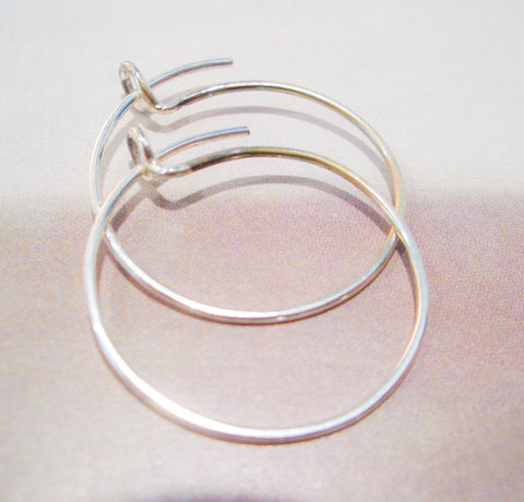 The Simple Hoop in Sterling Silver