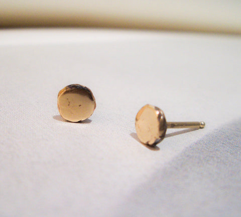 Recycled Solid 14K Gold Post Earrings