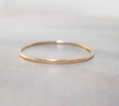Petite Gold Stacking Ring // Solid 14K Gold