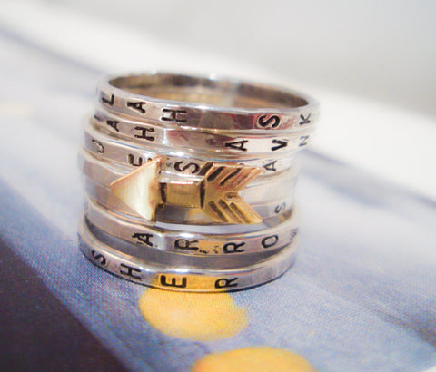 Personalized Wedding Ring Sets 38 Great Collection of Silver Stacking