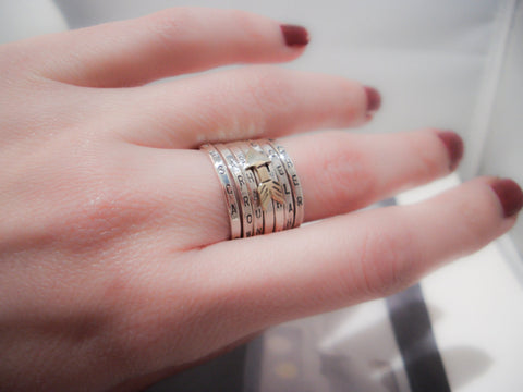 Personalized Wedding Ring Sets 25 Simple Collection of Silver Stacking