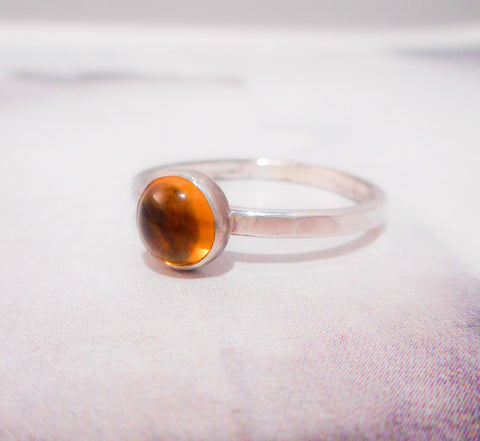 Yellow Citrine Ring // Sterling Silver